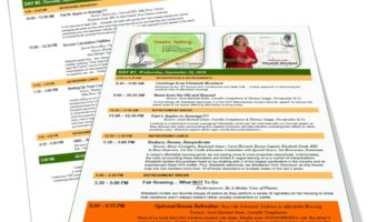 Conference Agenda NOW Available